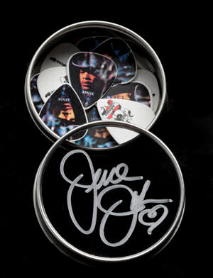 Guitar Picks in Autographed Tin