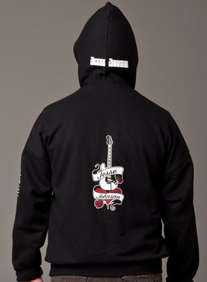 Men's Black Hoodie, back