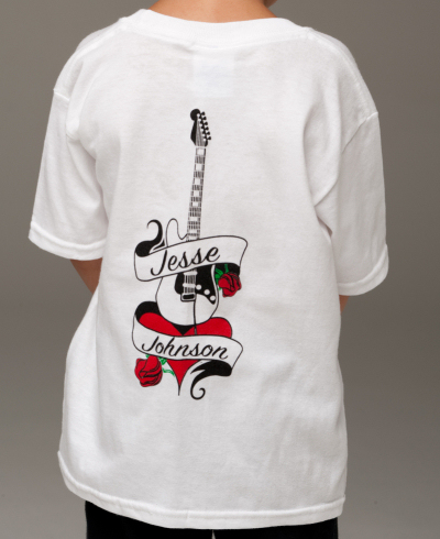 Children's White t-shirt, back