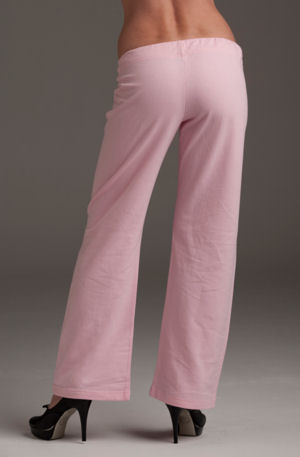 Women's Pink 100% Cotton Sweat Pants, back