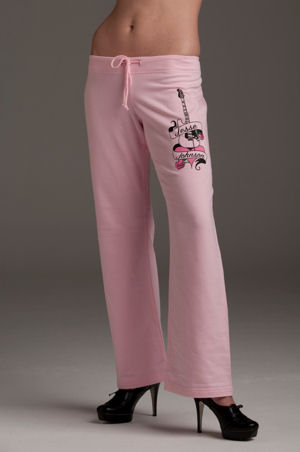 Women's Pink 100% Cotton Sweat Pants