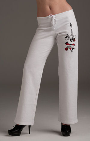 Women's White 100% Cotton Sweat Pants